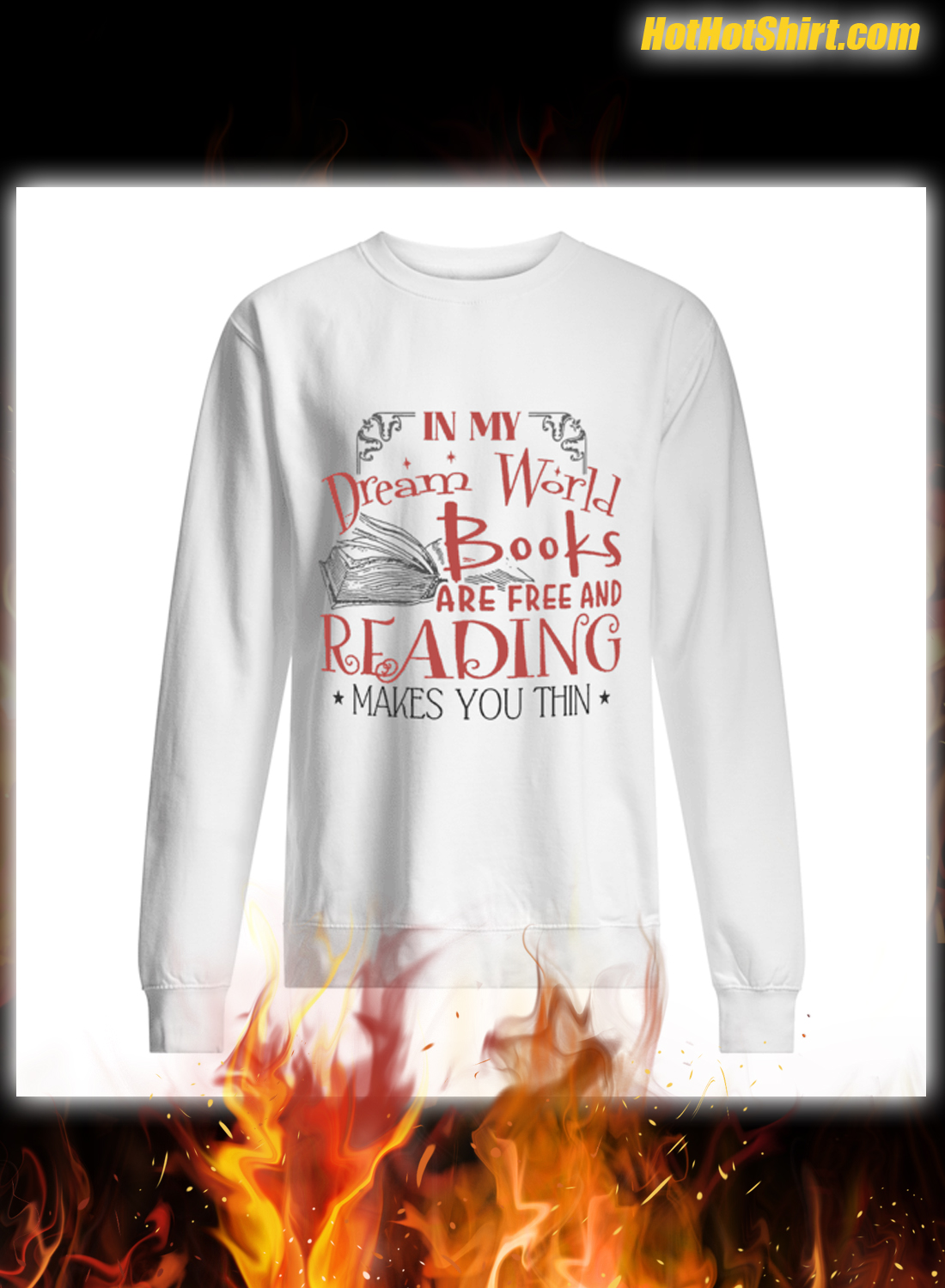 In My Dream World Books Are Free And Reading Makes You Thin Mug 2