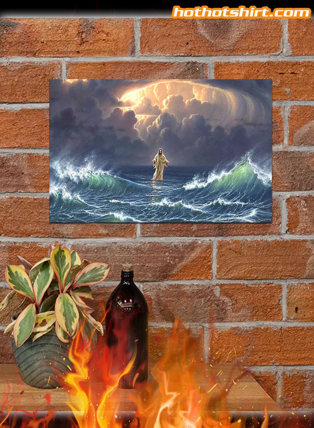 In the storm Jesus walked on the water poster 2