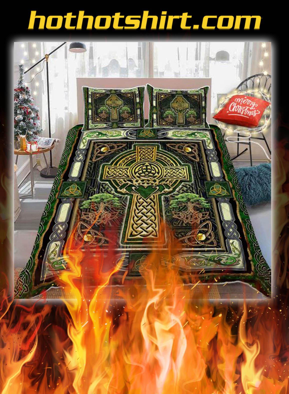 Irish Celtic Cross Bedding Set- king
