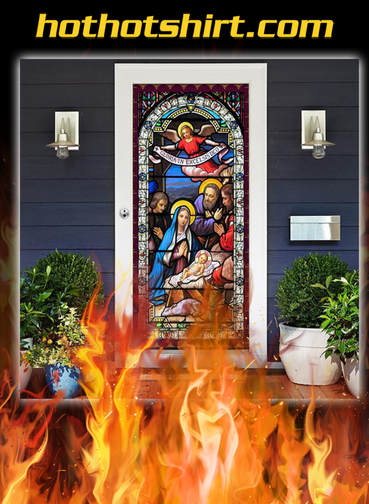 Jesus Christ Family Door Cover- pic 1