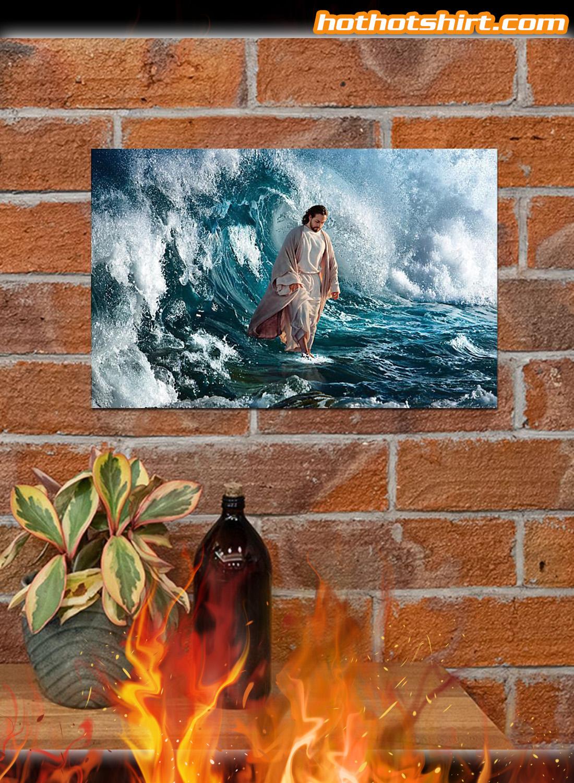 Jesus God He walks on water poster 3