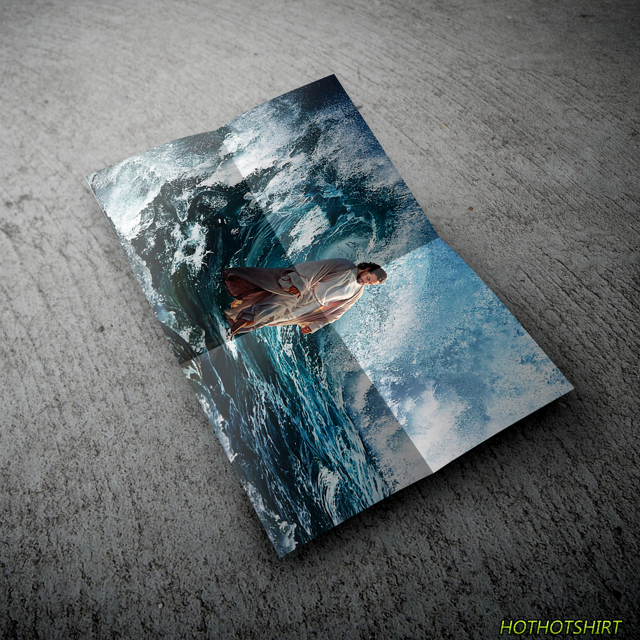 Jesus He Walking On The Water Poster