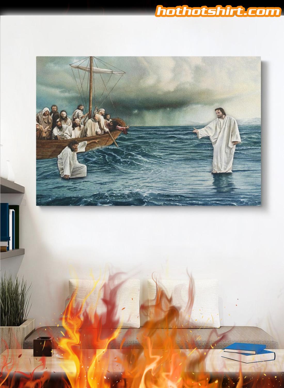 Jesus christ walking on water poster 2