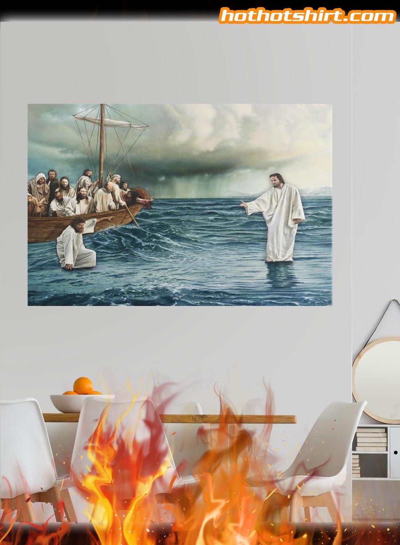 Jesus christ walking on water poster 3