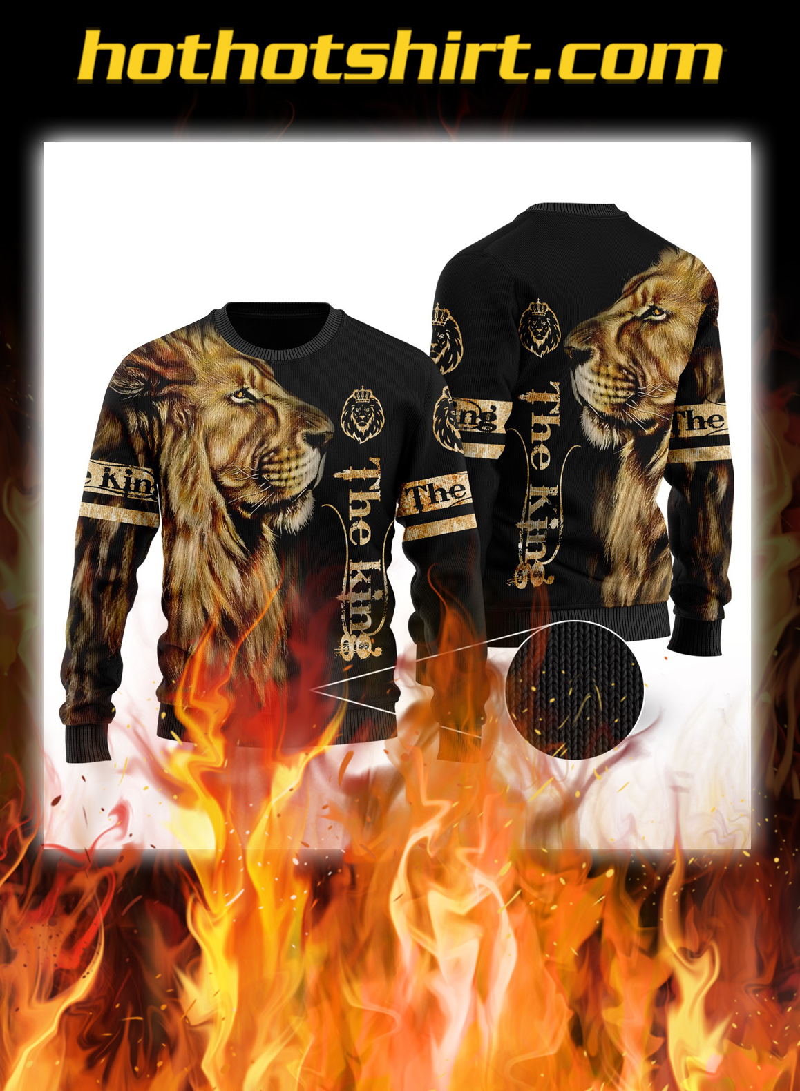 King lion 3d all over printed unisex longsleeve tee