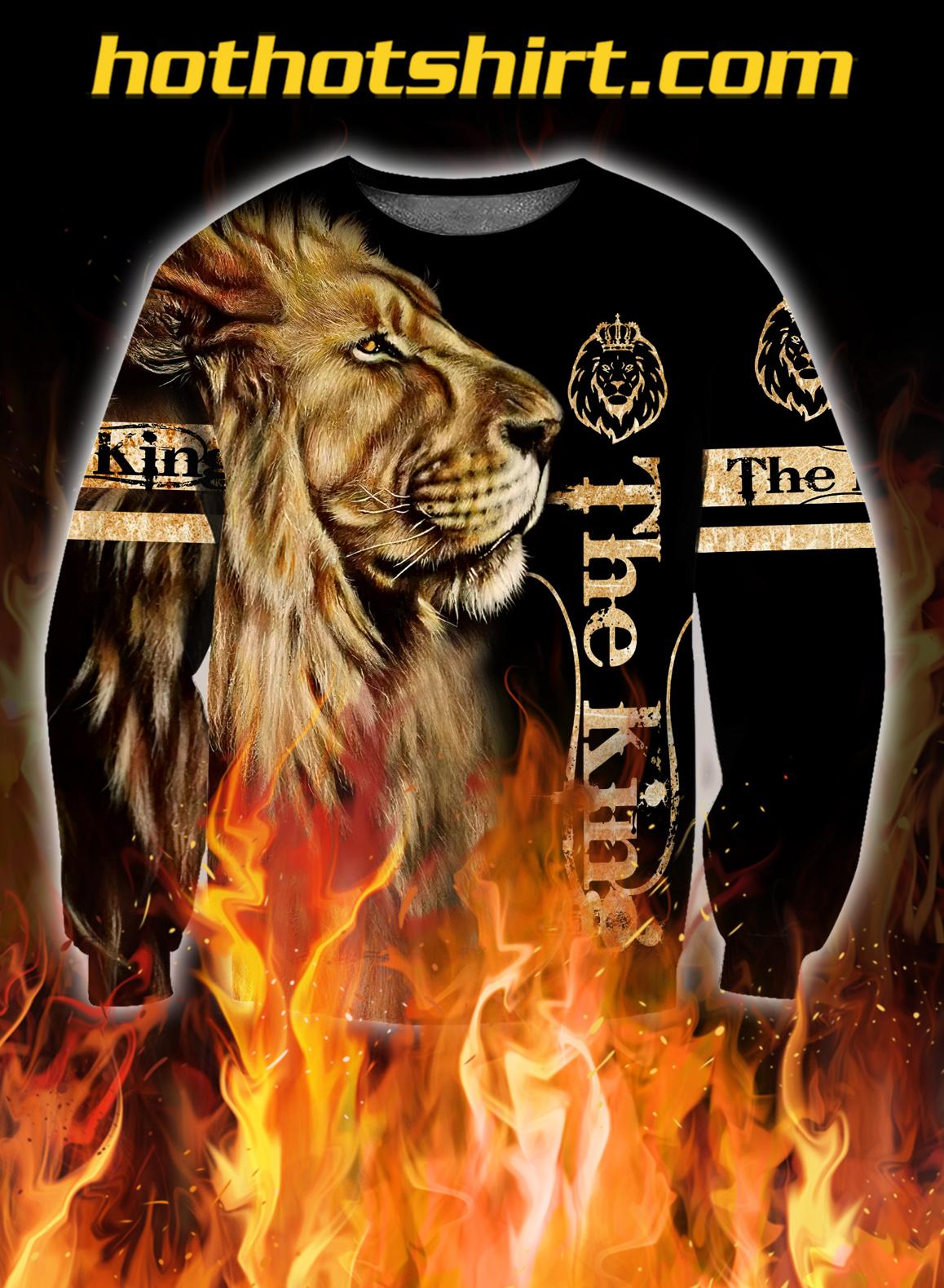 King lion 3d all over printed unisex sweatshirt