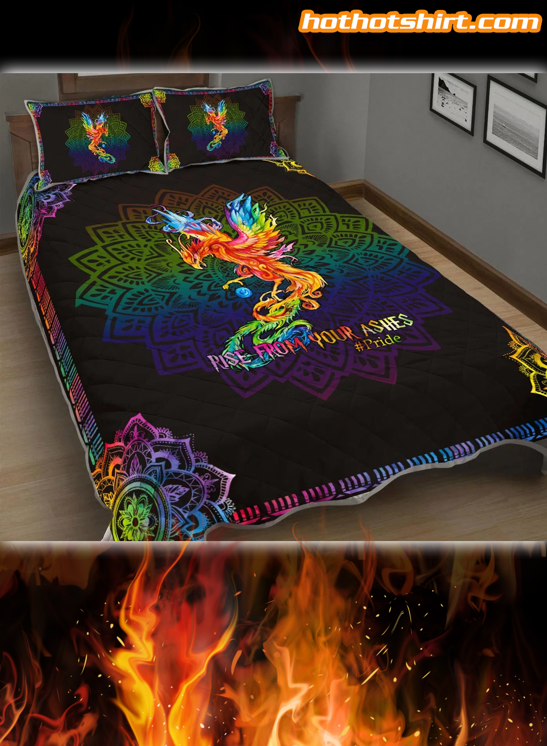 LGBT Rise From Your Ashes Pride Bedding Set 2