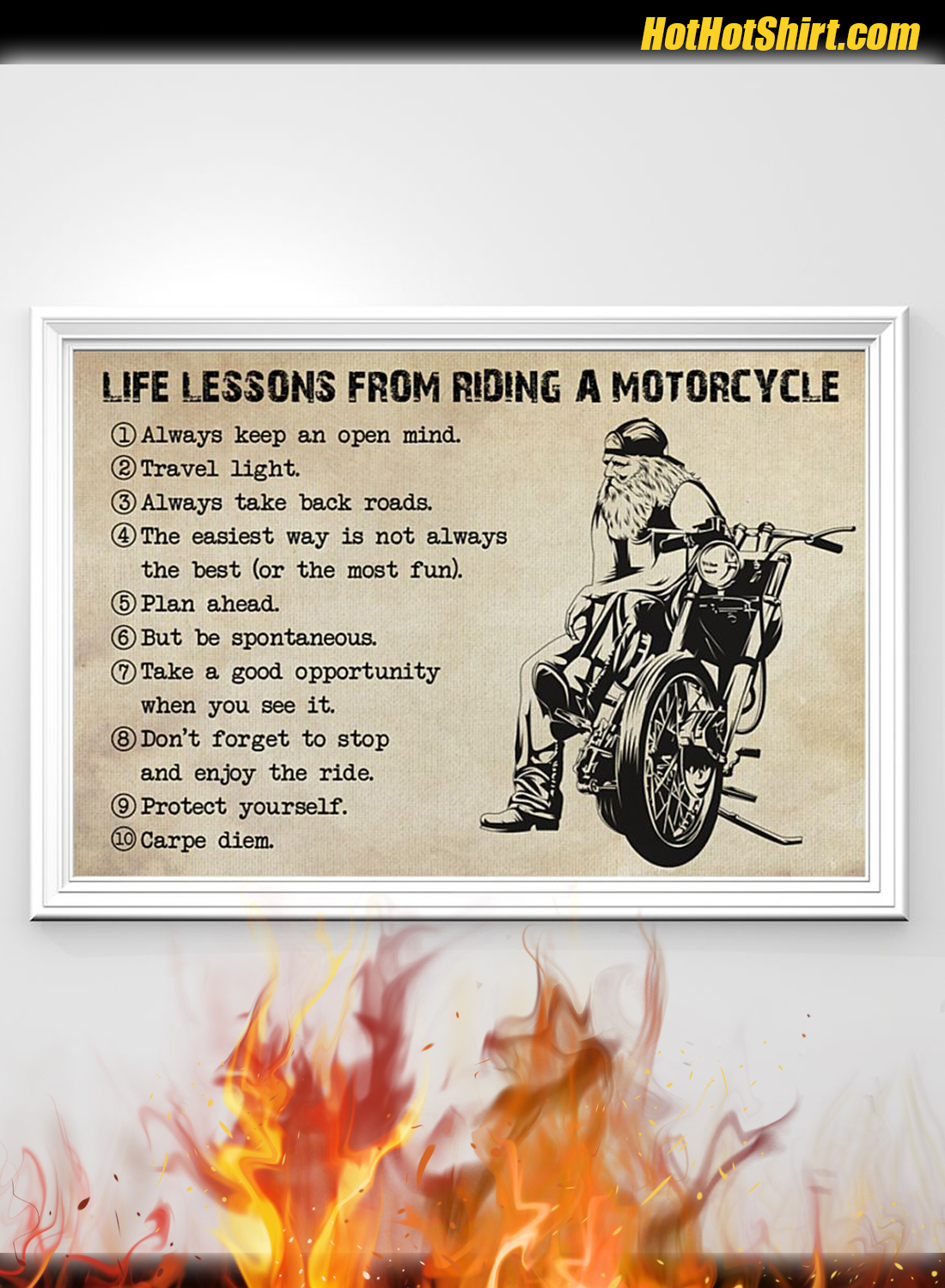 Life Lessons From Riding A Motorcycle Poster 1