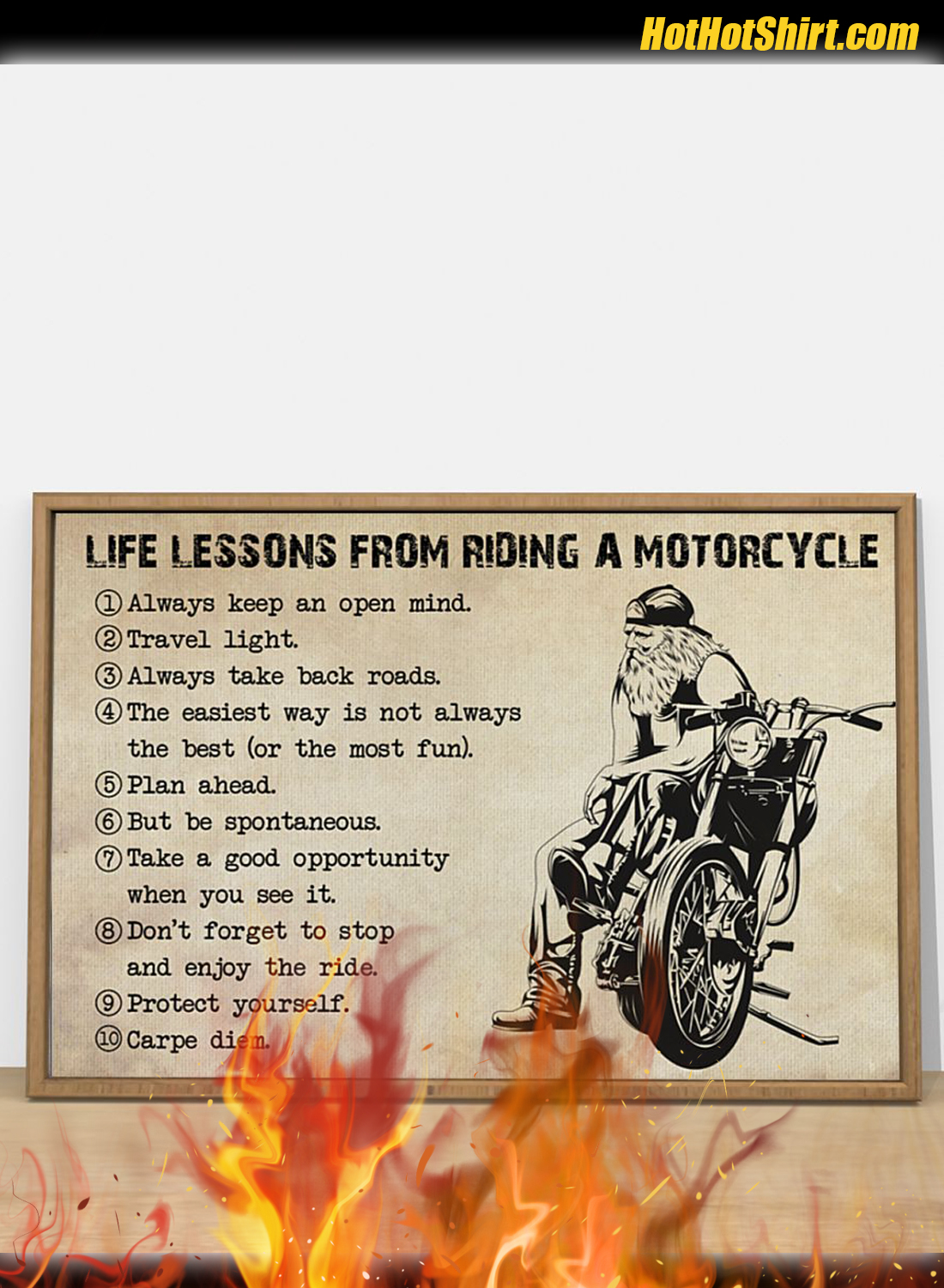 Life Lessons From Riding A Motorcycle Poster 2