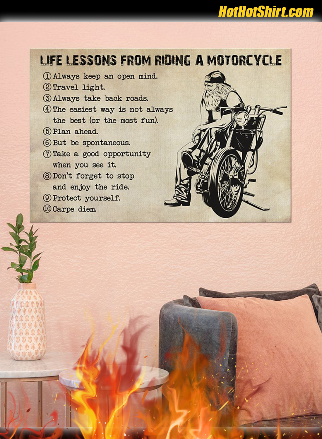 Life Lessons From Riding A Motorcycle Poster 3
