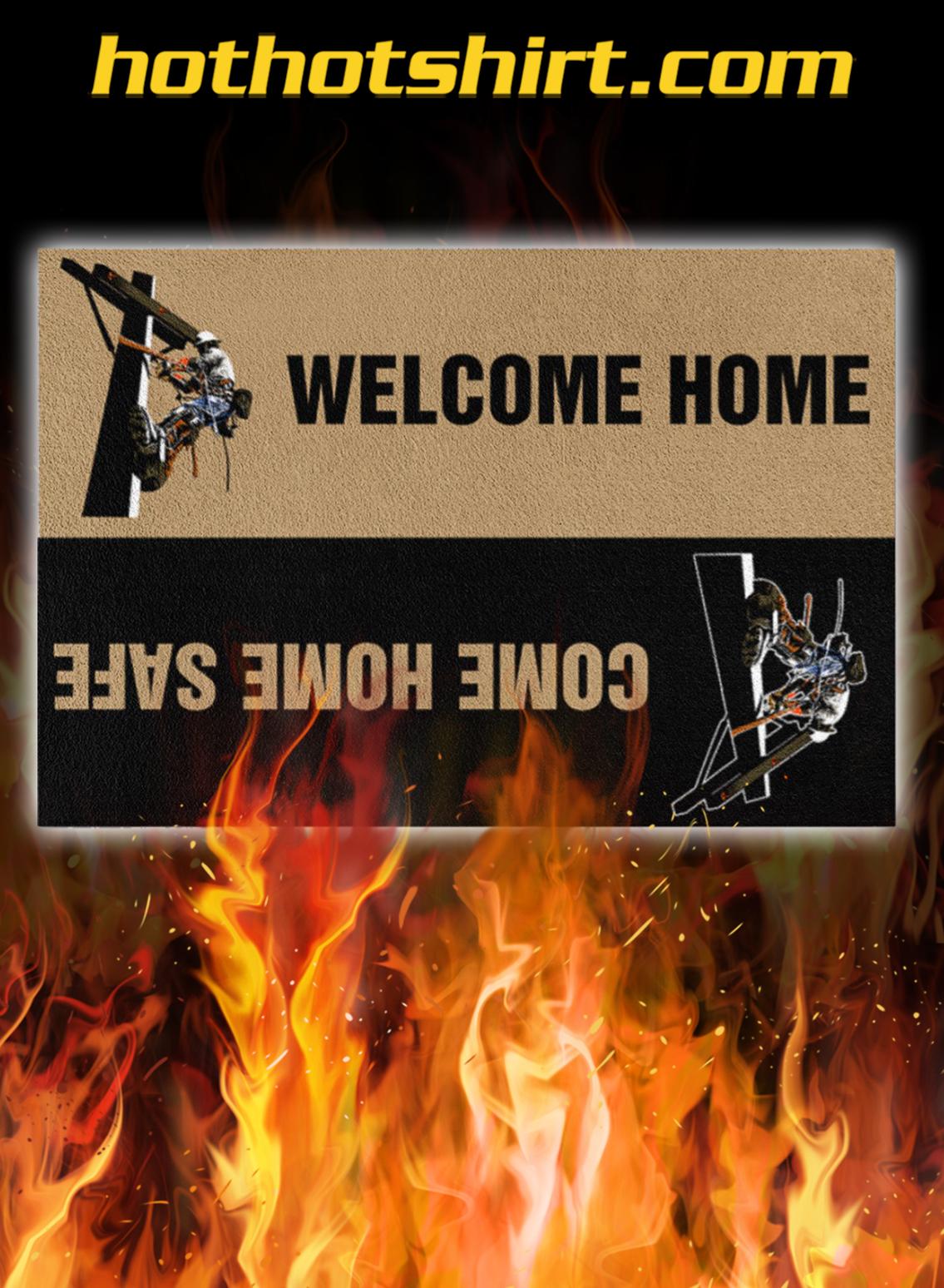 Lineman Welcome Home Doormat- pic 1
