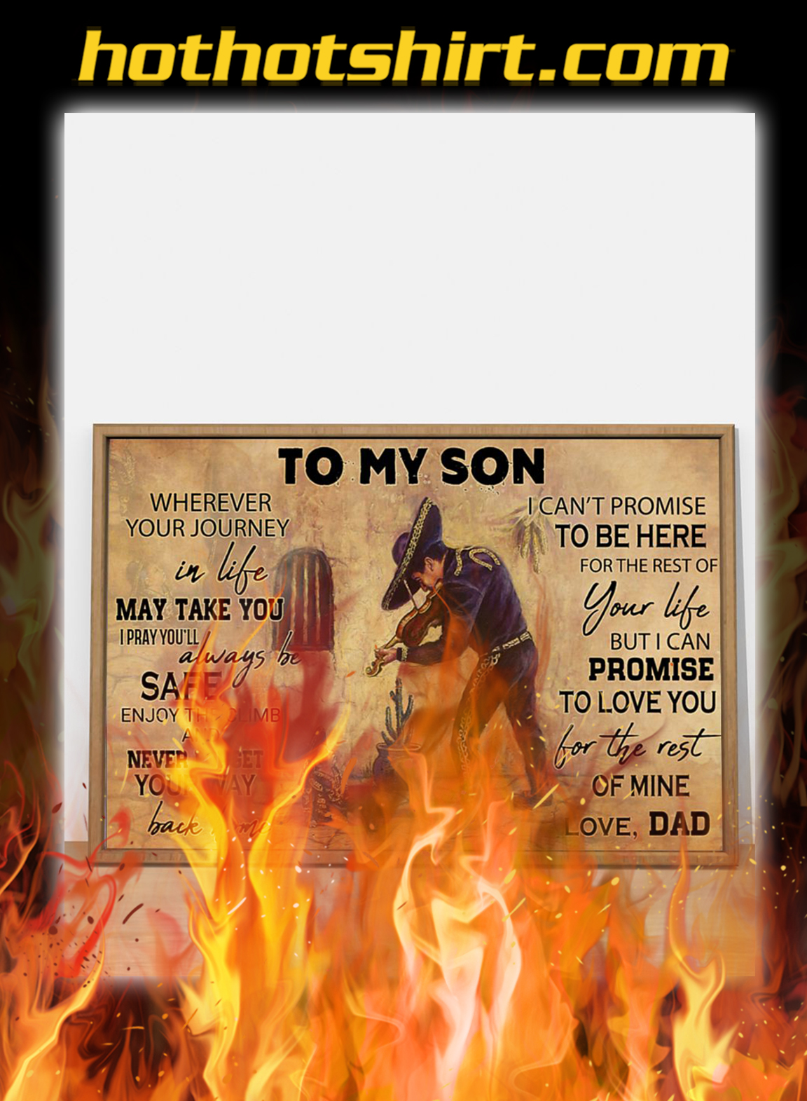Mariachi To my son poster- A4
