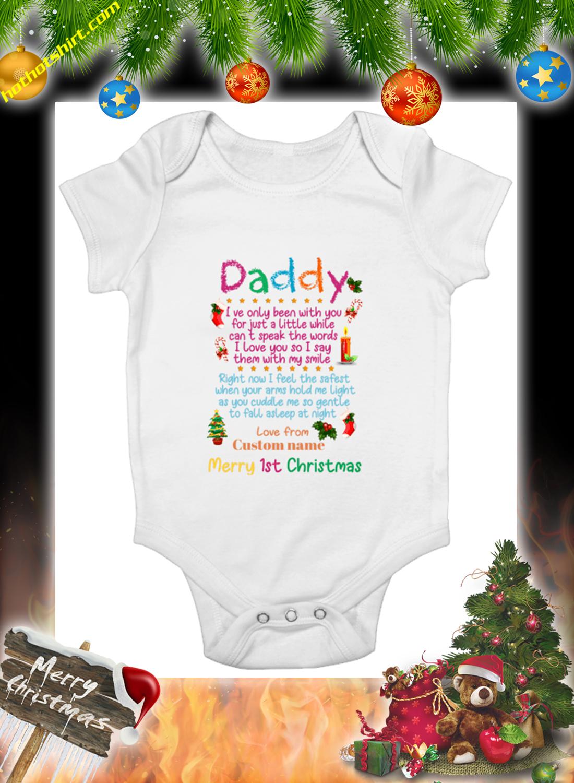 Merry 1st christmas daddy custom name mug 2