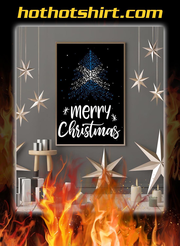 Merry christmas Scotland flag tree poster 1