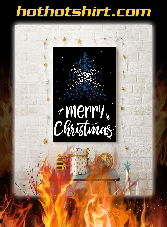 Merry christmas Scotland flag tree poster 2