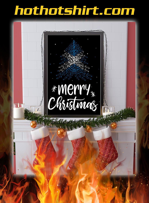 Merry christmas Scotland flag tree poster 3