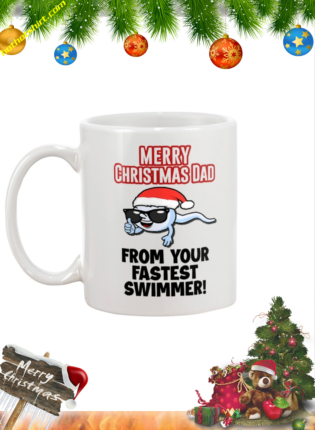 Merry christmas dad from your fastest swimmer mug