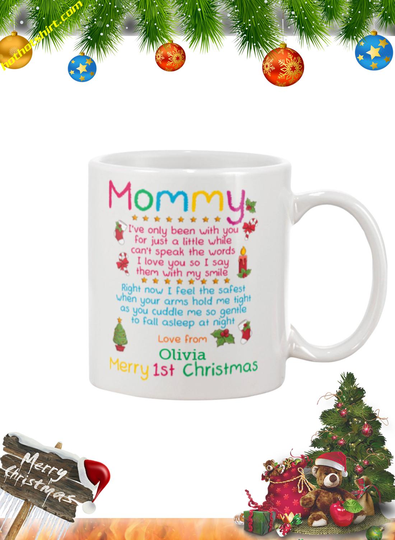 Mommy merry 1st christmas personalized custom name mug 1