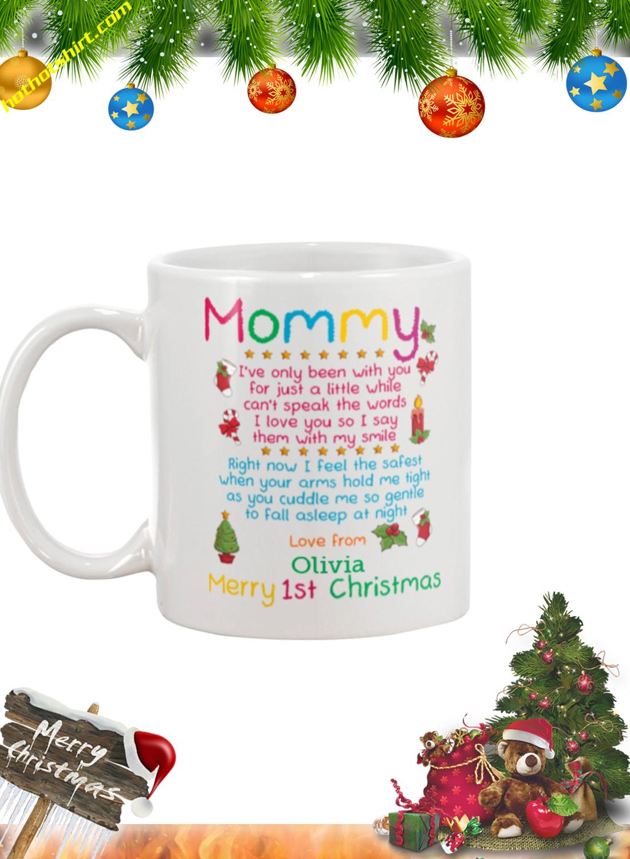 Mommy merry 1st christmas personalized custom name mug