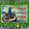 Motorcycle It's Not A Phase It's My Life It's Not A Hobby It's My Passion Canvas Poster