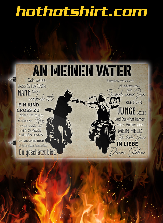 Motorradfahrer an meinen vater poster 1Motorradfahrer an meinen vater poster 1