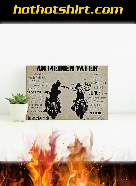 Motorradfahrer an meinen vater poster 2