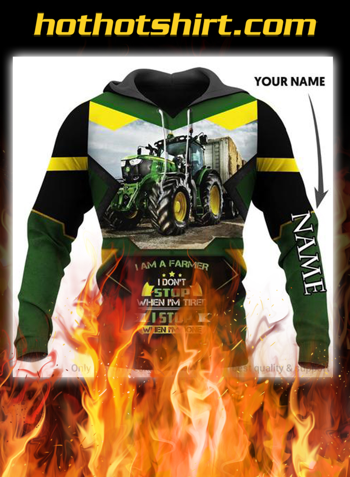Multicolor Agrimotor I'm A Farmer Personalized Unisex Hoodie- pic 1