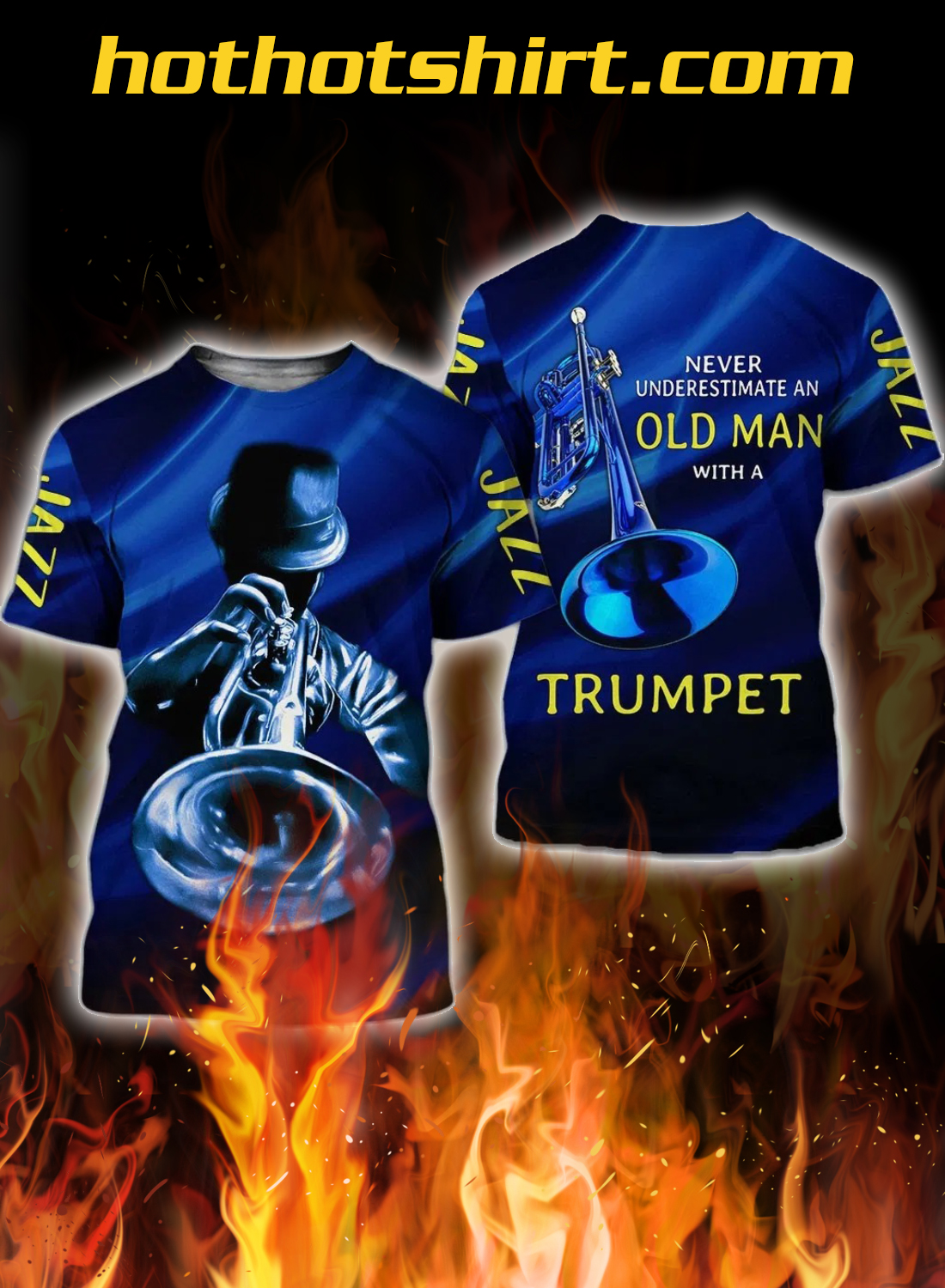 Never underestimate an old man with a trumpet 3d short 3