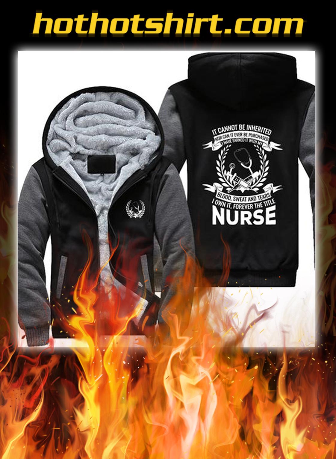 Nurse fleece hoodie- grey