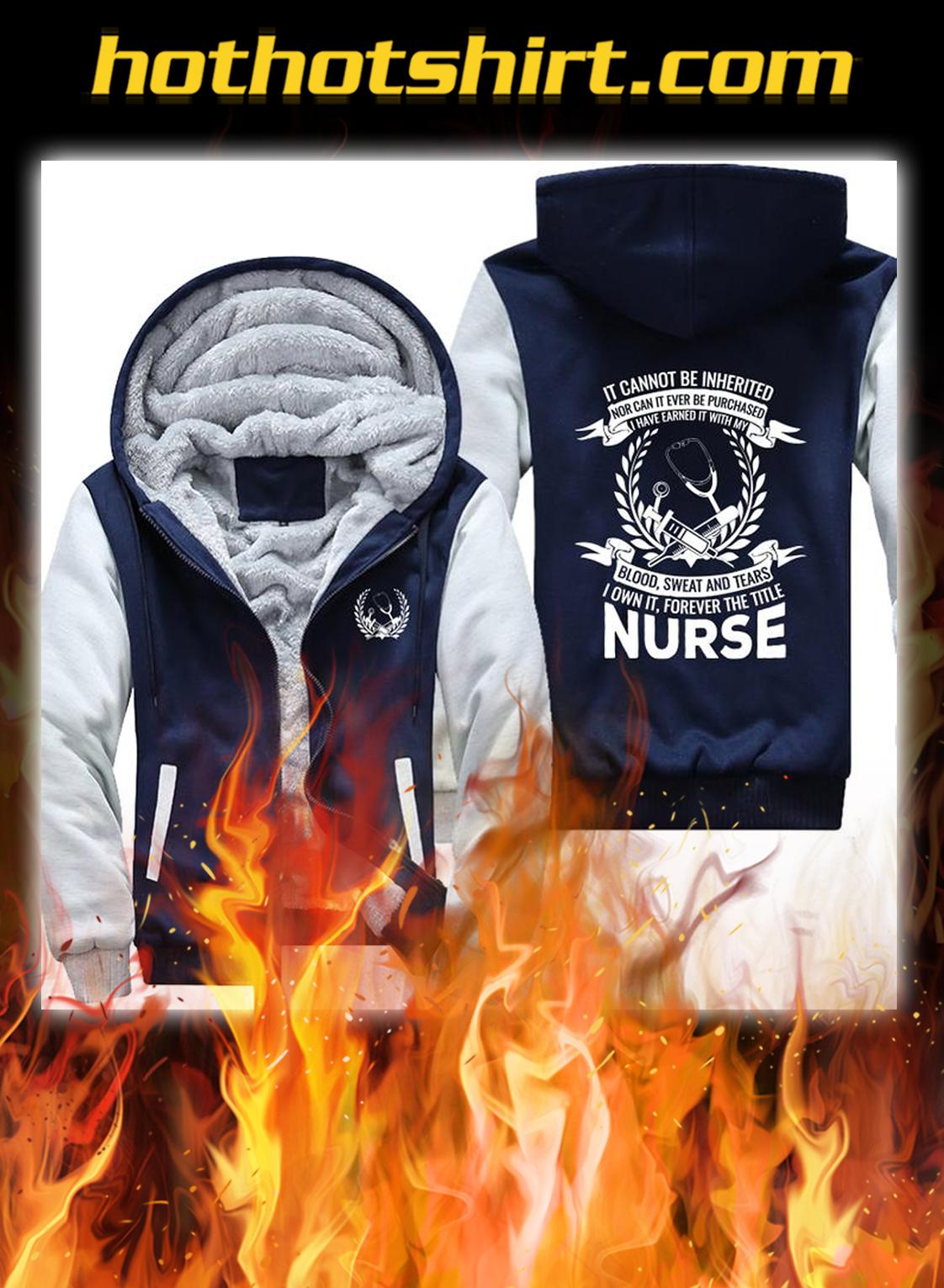 Nurse fleece hoodie- navy