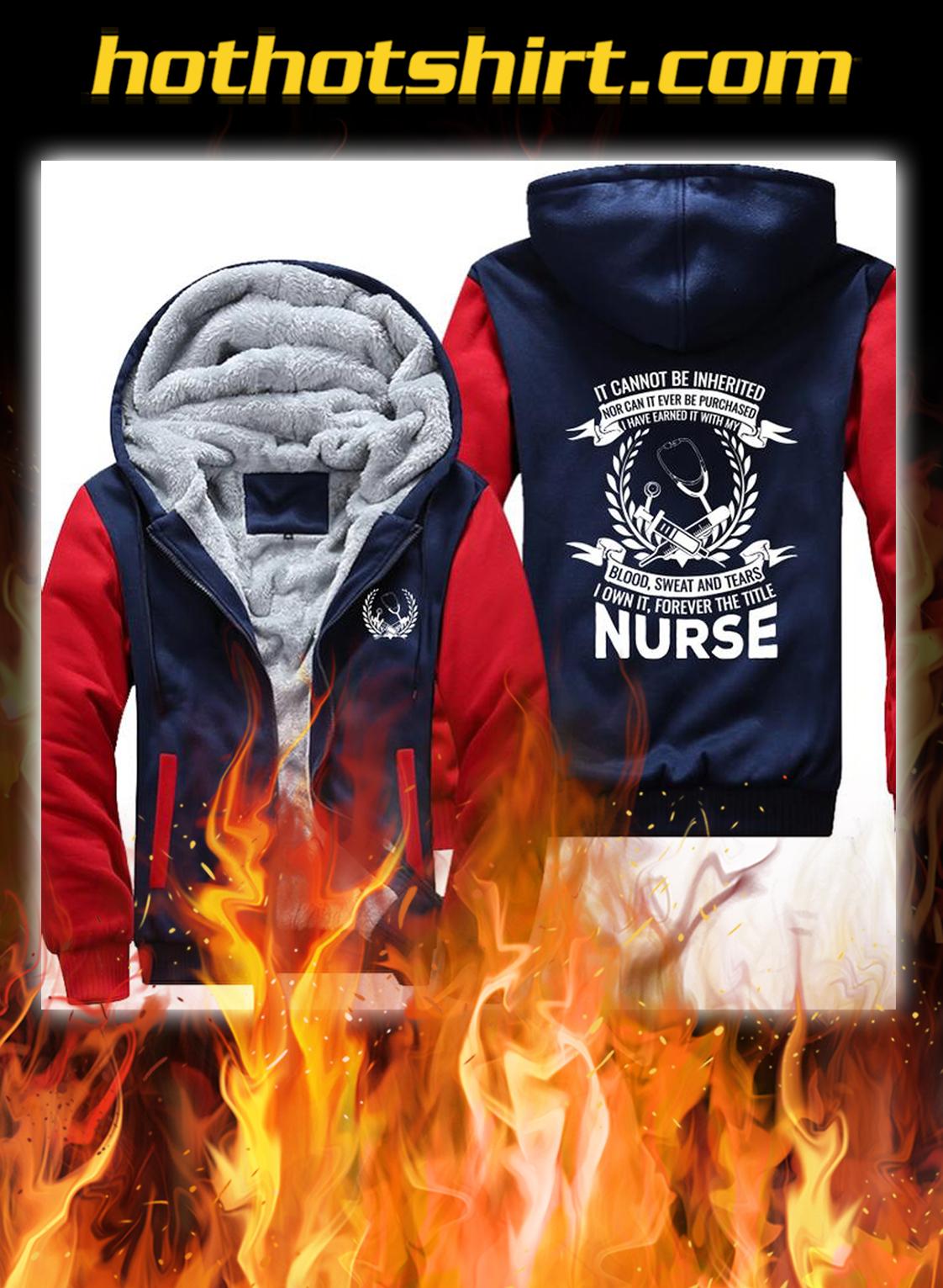 Nurse fleece hoodie- red