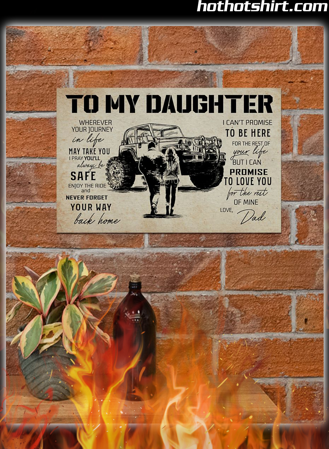 Off-Roading To My Daughter Love Dad Poster 1
