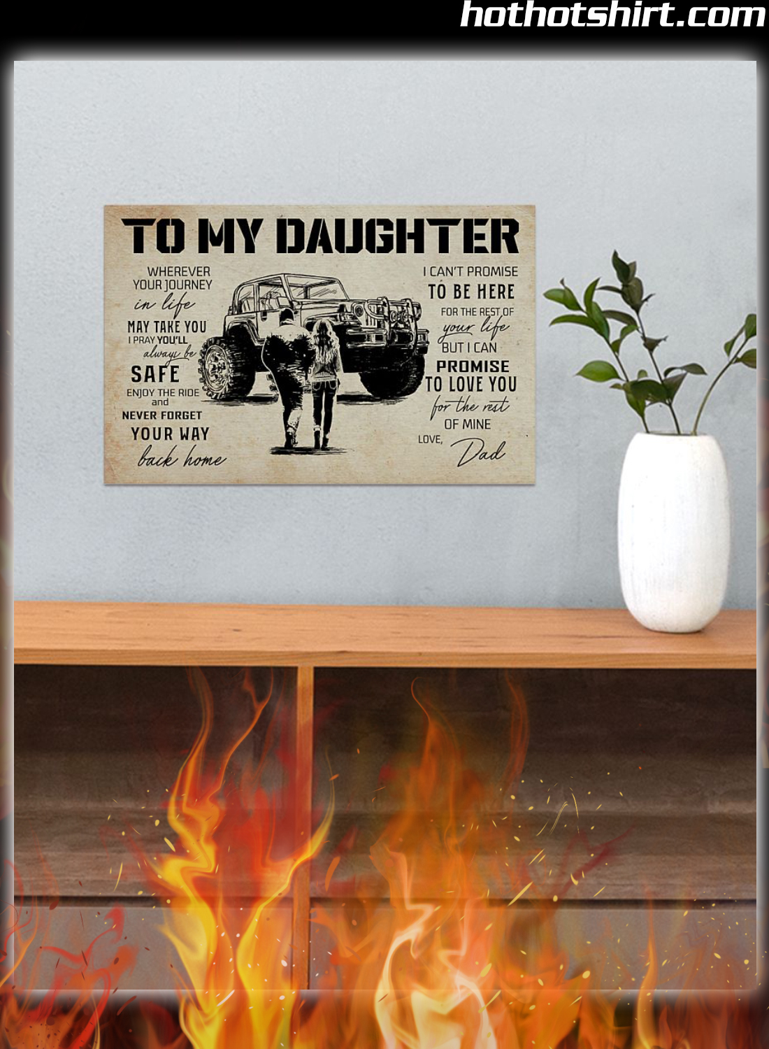 Off-Roading To My Daughter Love Dad Poster 2