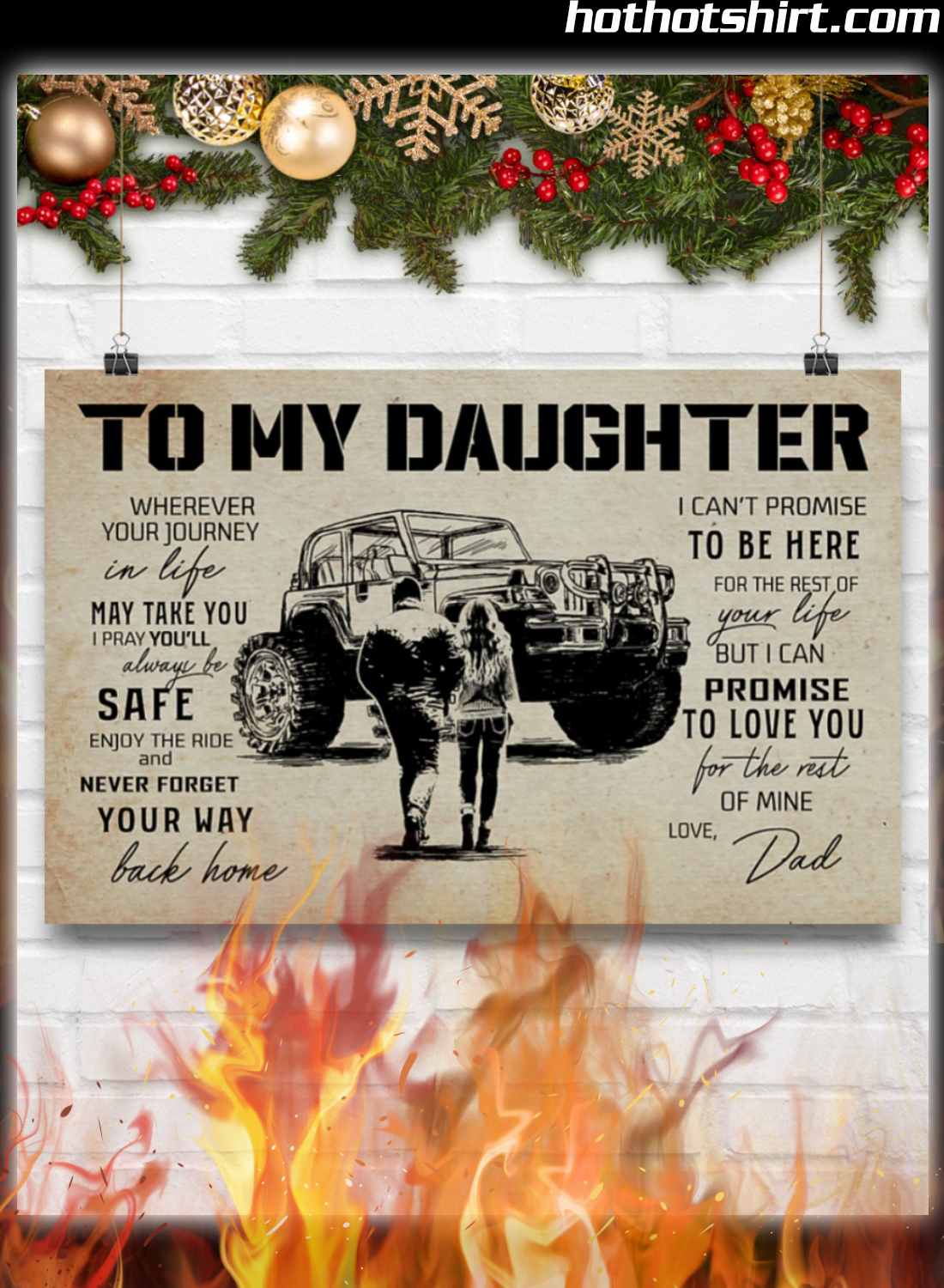 Off-Roading To My Daughter Love Dad Poster 3