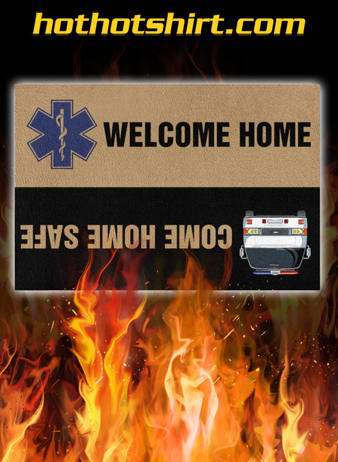 Paramedic Welcome Home Doormat- pic 1