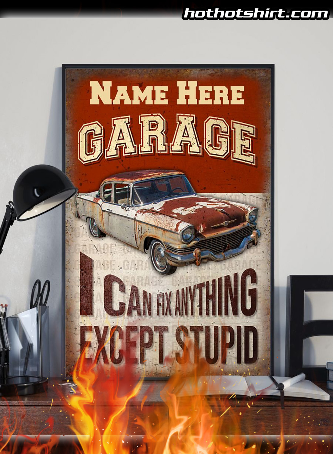 Personalized Auto Garage I Can Fix Anything Poster 2