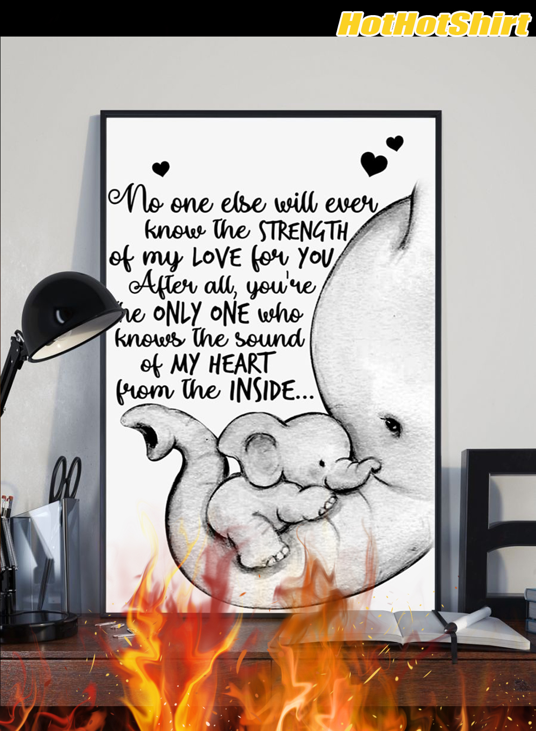 Personalized Custom Name Baby Elephant No One Else Will Ever Know The Strength Of My Love Poster 2