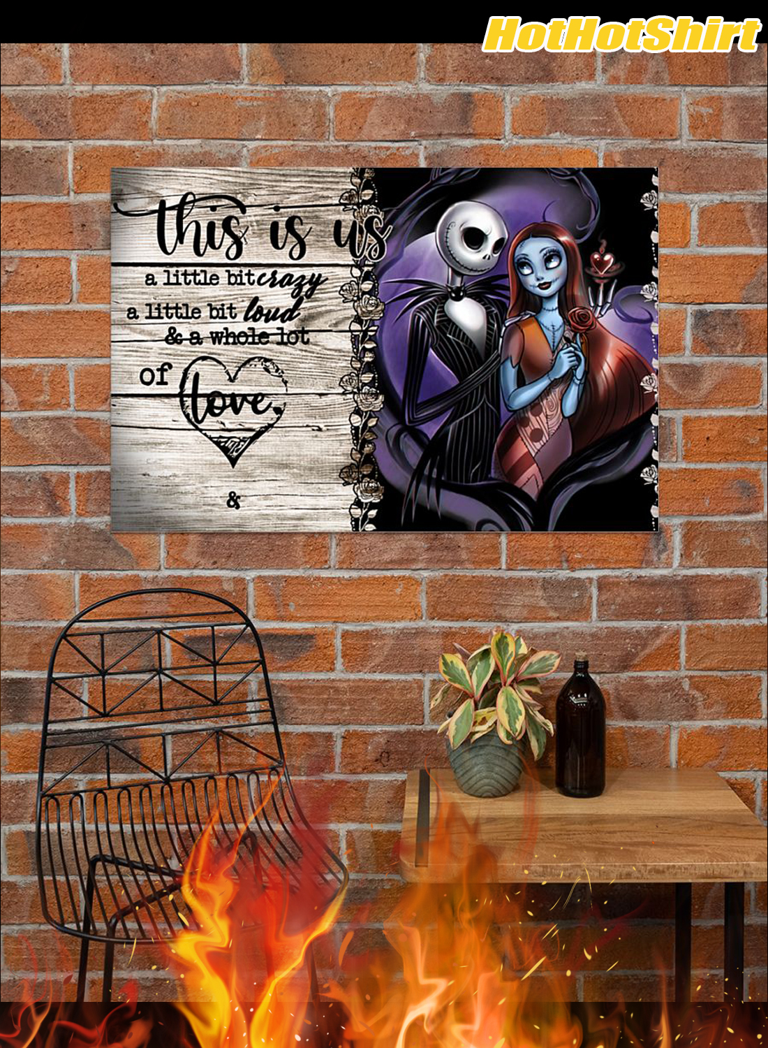 Personalized Custom Name Jack And Sally This Is Us Custom Name Poster 2