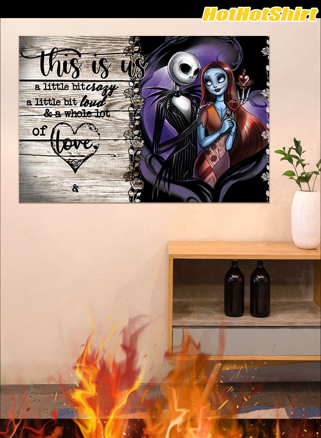 Personalized Custom Name Jack And Sally This Is Us Custom Name Poster 3