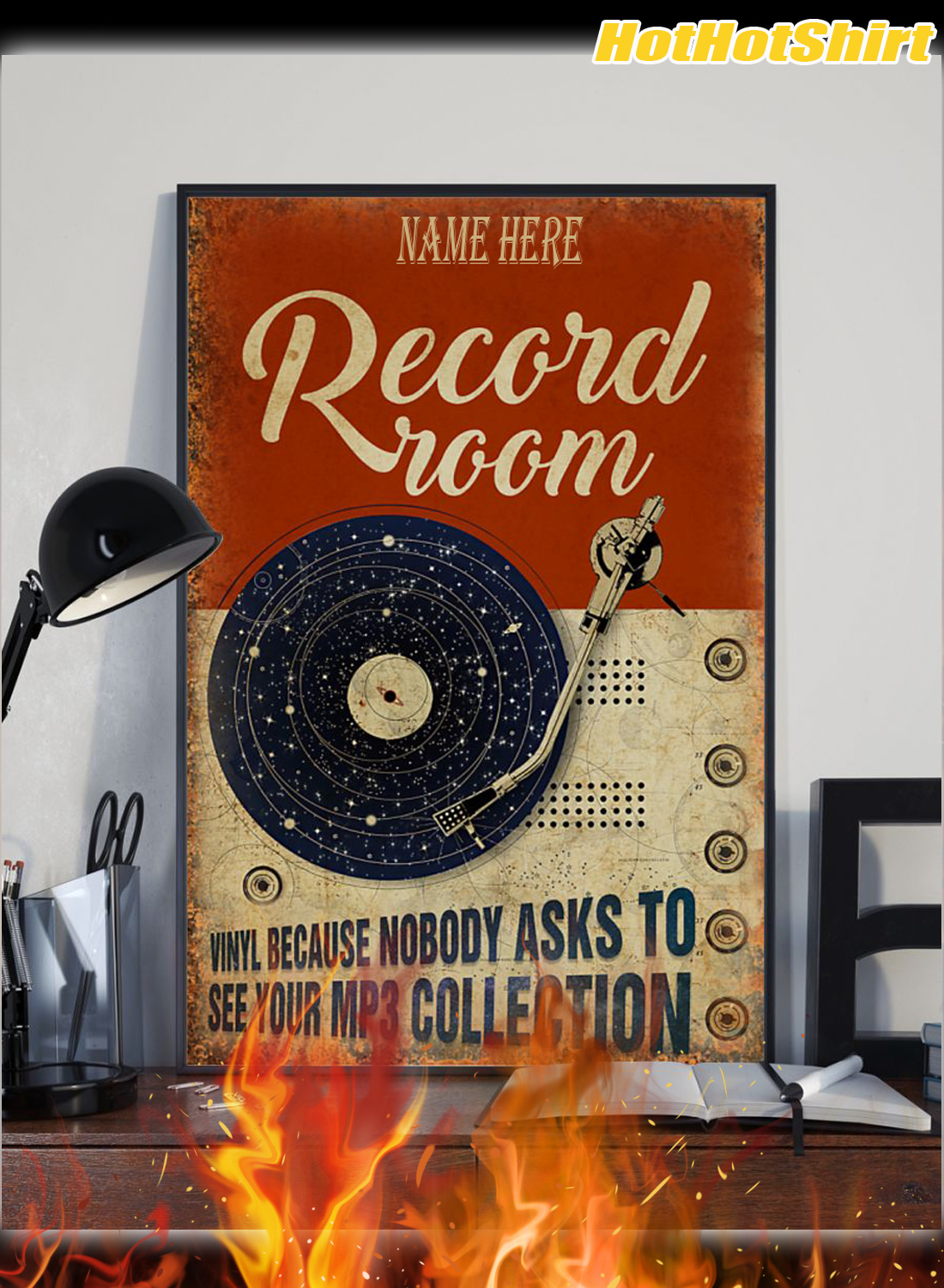 Personalized Custom Name Record Room Because Nobody Asks To See Your Mp3 Collection Poster 2