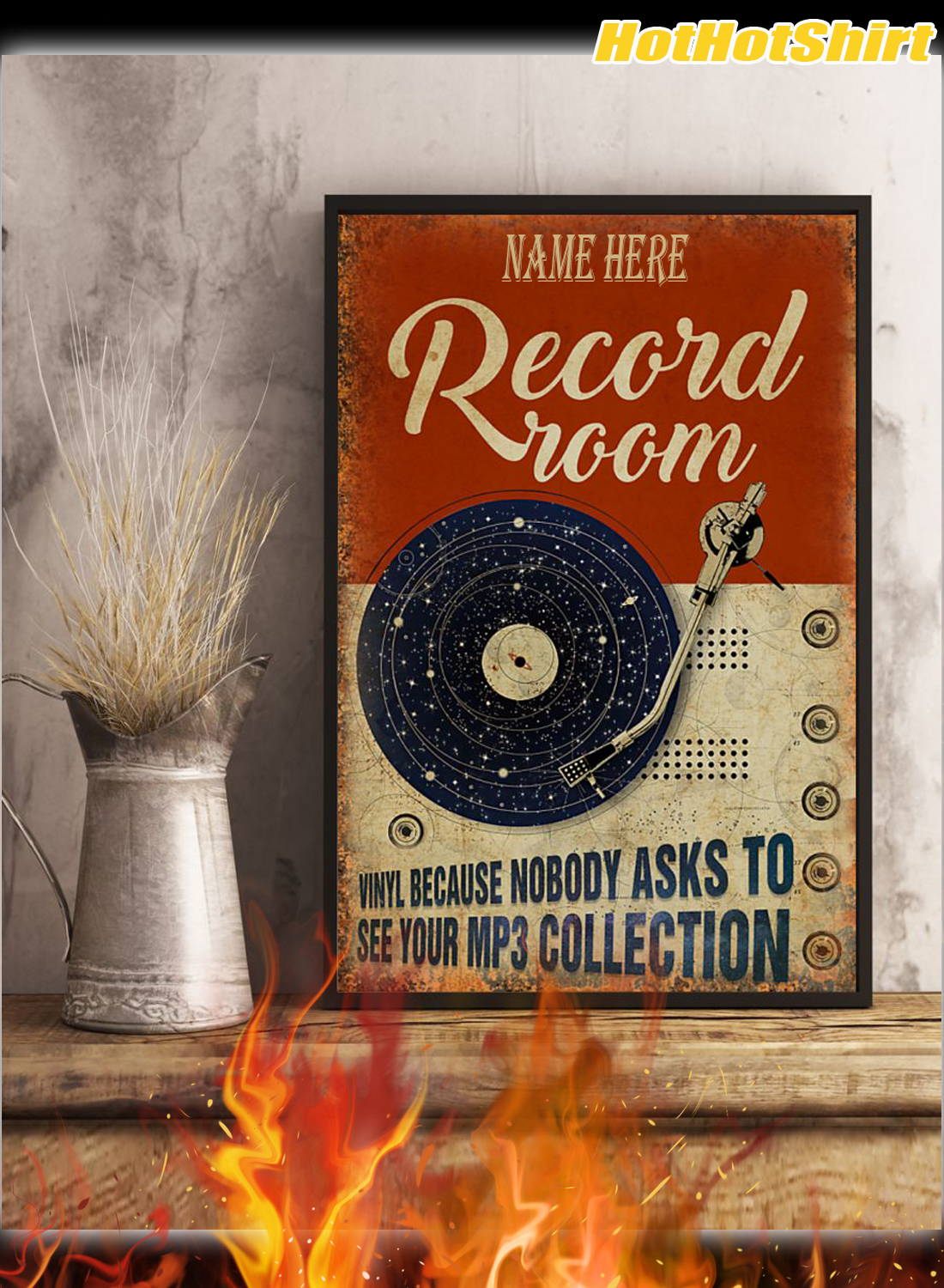 Personalized Custom Name Record Room Because Nobody Asks To See Your Mp3 Collection Poster 3
