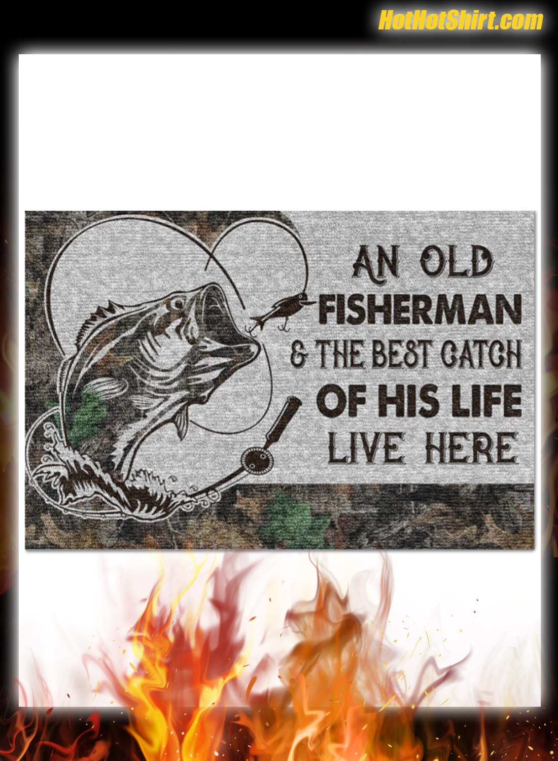 Personalized Name An Old Fisherman And The Best Catch Of His Life Here Doormat 3