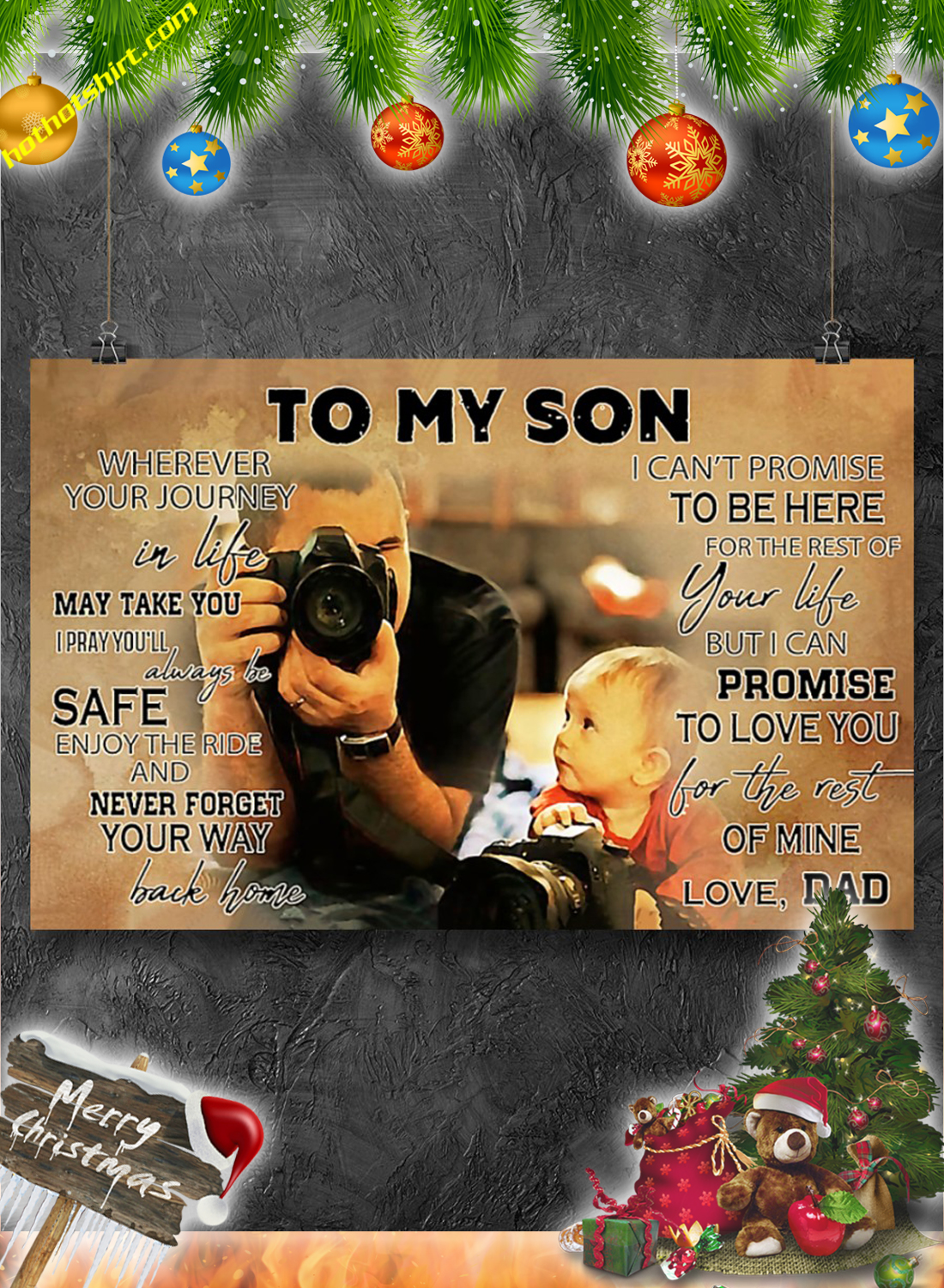 Photographer To my son poster 2