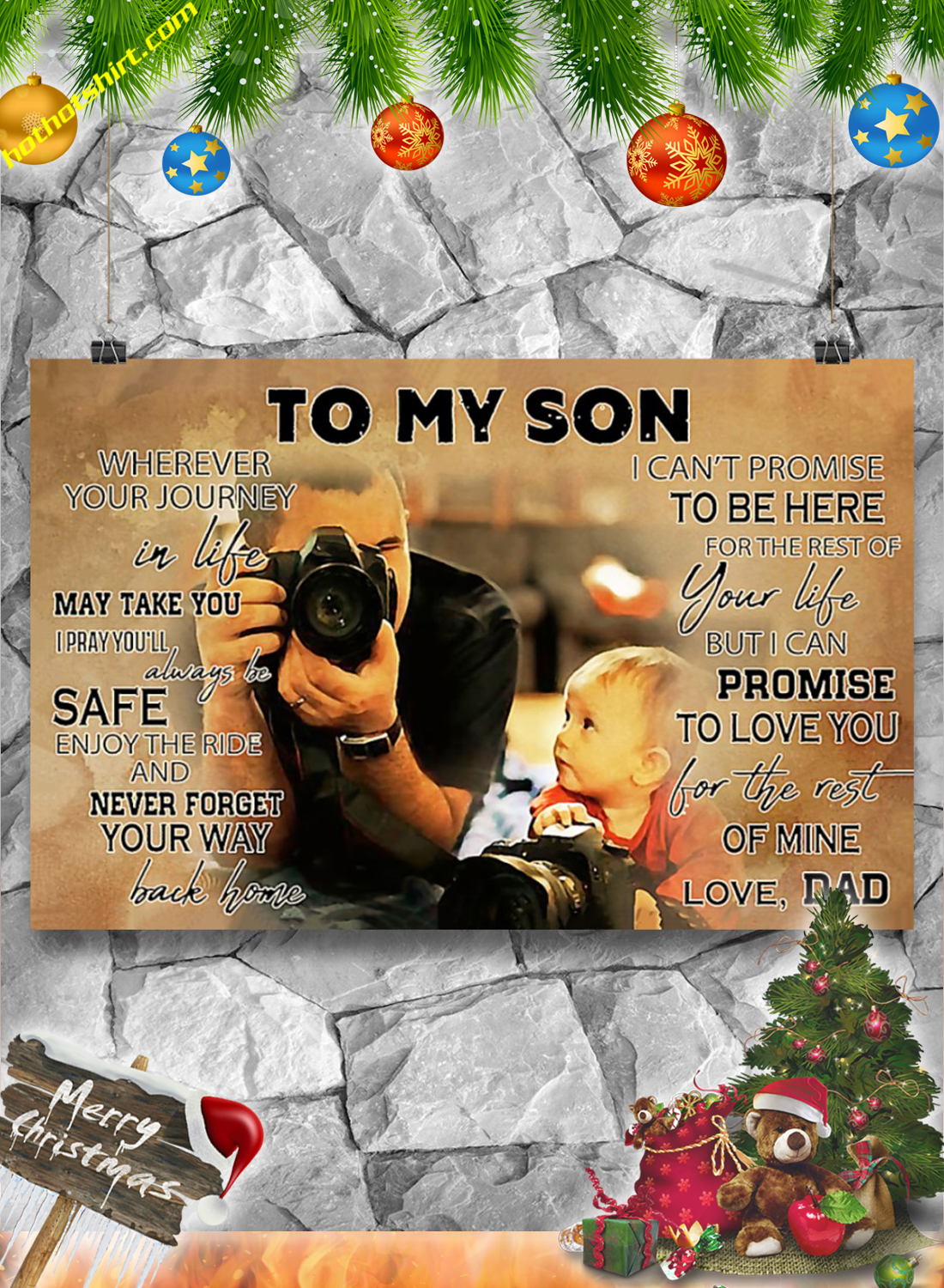 Photographer To my son poster 3