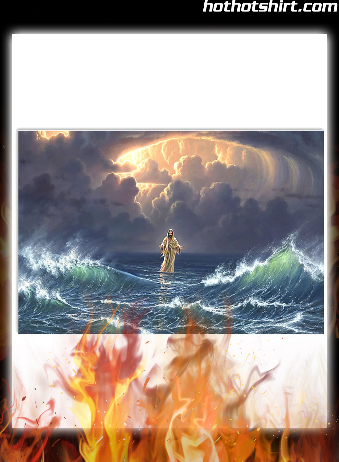 Poster In the storm Jesus walked on the water 1
