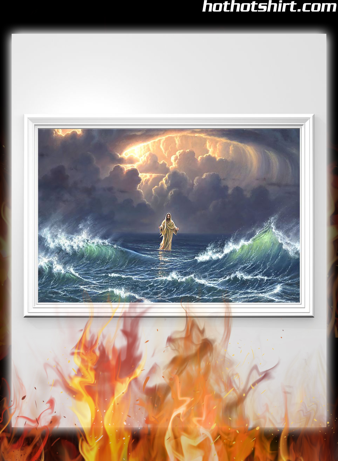 Poster In the storm Jesus walked on the water 2