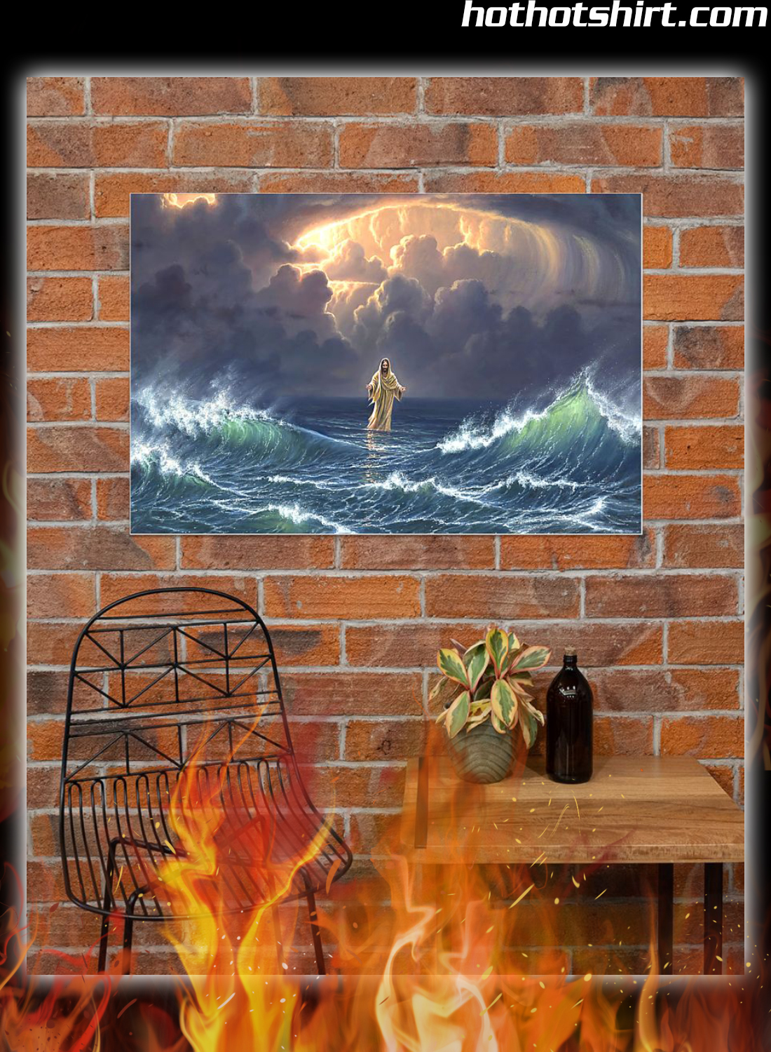 Poster In the storm Jesus walked on the water 3