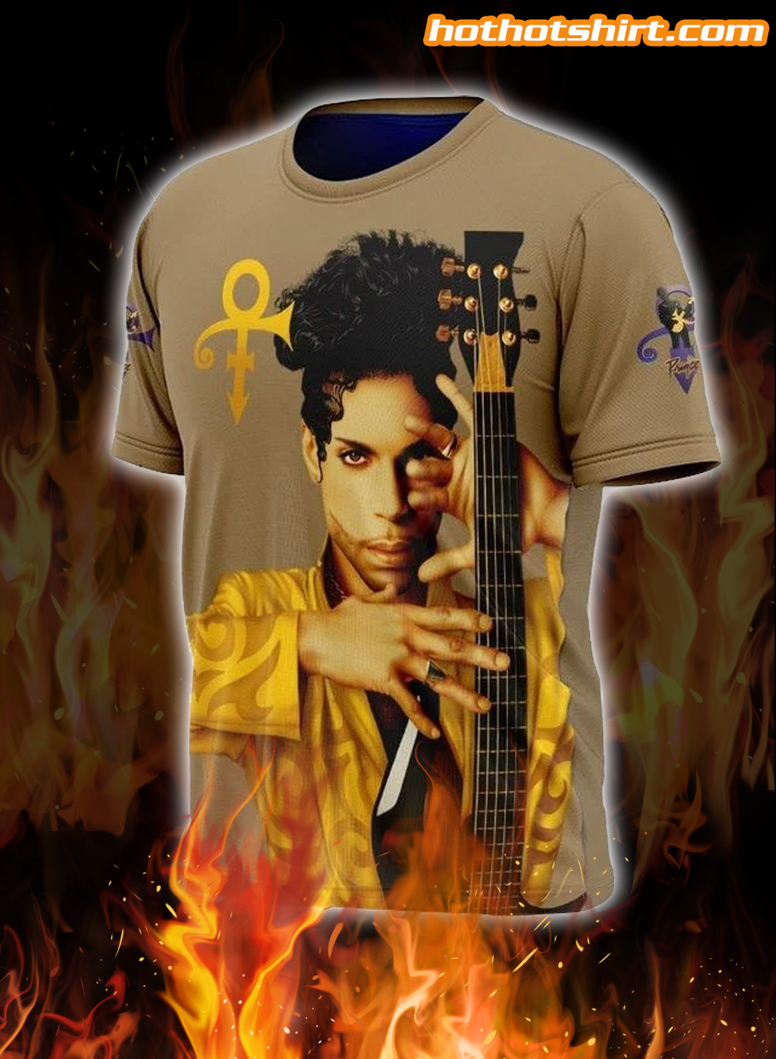 Prince Guitar 3D All Over Printed 3D T-Shirt 1