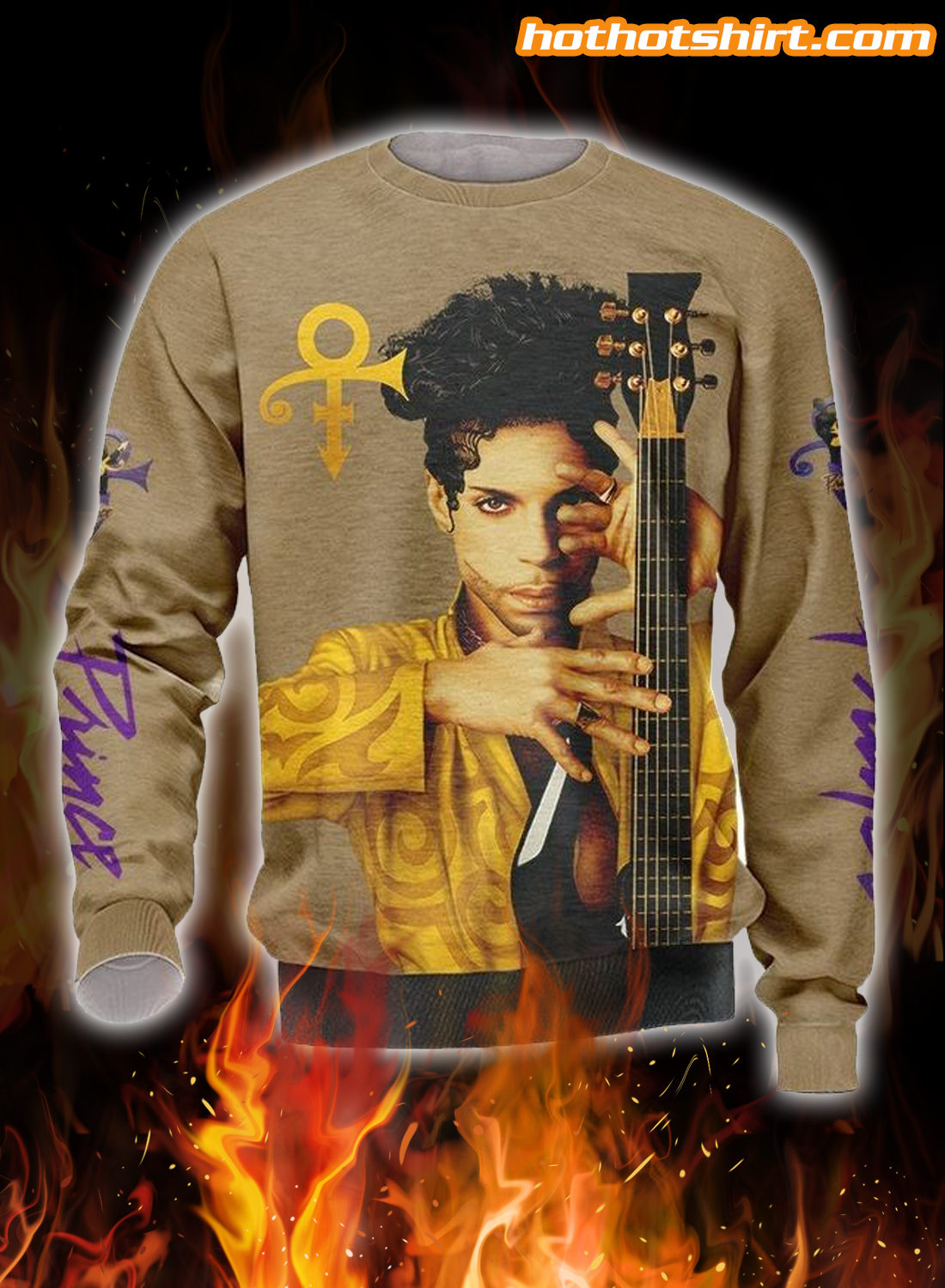 Prince Guitar 3D All Over Printed 3D T-Shirt 2