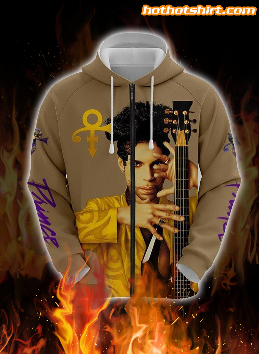 Prince Guitar 3D All Over Printed 3D T-Shirt 3